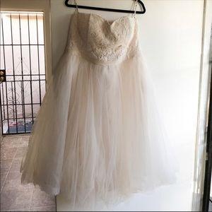 Chi chi London prom or wedding dress. Blush color
